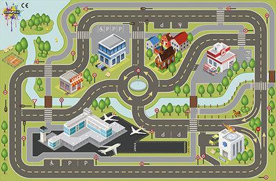 Speelkleed Stad XL