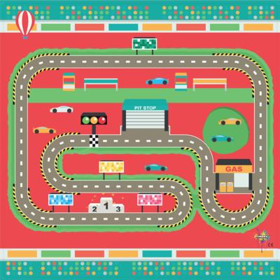 Speelkleed Racebaan   Vinyl