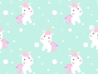 Kinderkamerkleed Unicorns | Vinyl